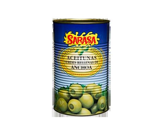 Aceitunas Rellenas Anchoa Lata Sarasa 3kg