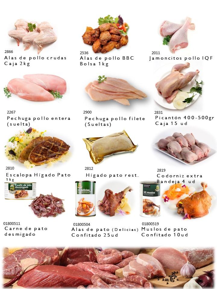 Pollo, Picanton, Pato Codirniz