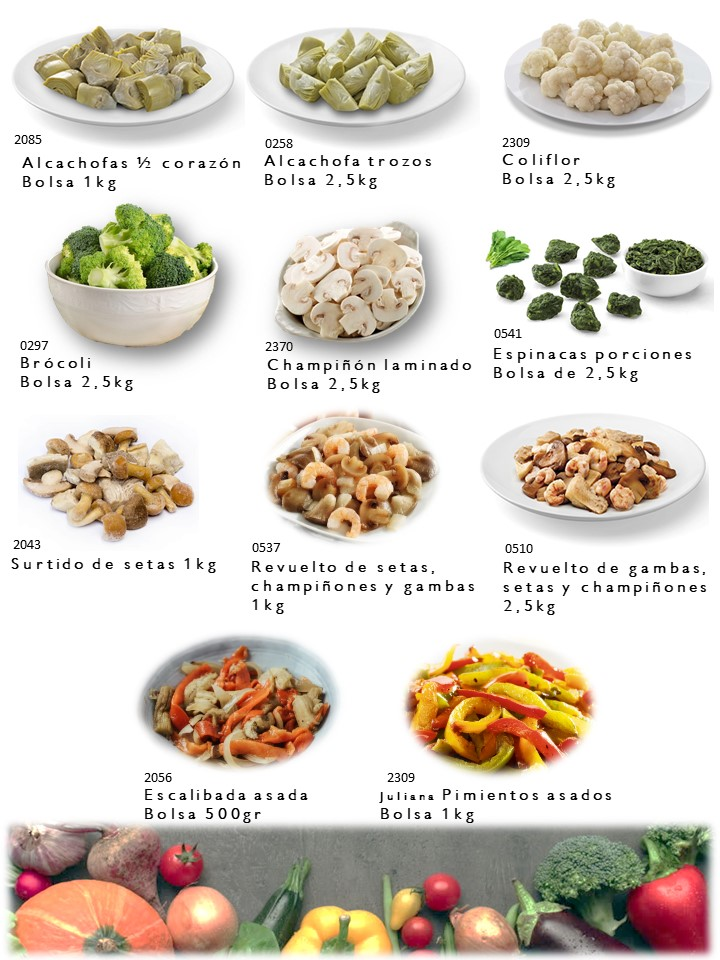 Alcachofa, brocoli, boletus...
